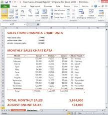 sales report example excel free sales annual report template for excel 2013