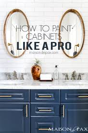 Professional Painting Kitchen Cabinets Cool How To Paint Cabinets To Last Painting A Bathroom Vanity Maison