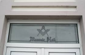 file glass panel above the door of havant masonic hall geograph org