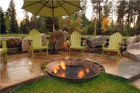 Fire Pit, Recycled Round Copper Bowl Creek Artistic Unusual Fire Pits  Design Landscape Ideas Black