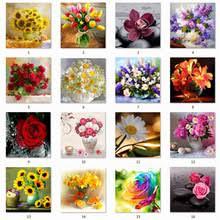 <b>5D DIY Алмазная</b> Цветочная композиция Цветочная ваза ...