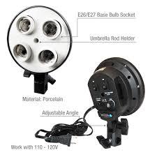 Ebay Light Bulb Camera Details About Photography Photo Video Studio Light Lamp Bulb Holder E27 4x Socket
