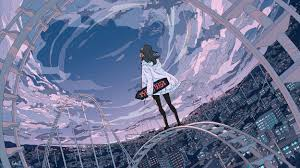 Aesthetics digital wallpaper, vaporwave, kanji, chinese characters. Anime Skate Wallpapers Top Free Anime Skate Backgrounds Wallpaperaccess