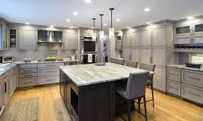 photo of dream kitchens nashua nh united states gray stained cabinets with