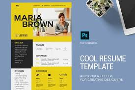 Cool Resume For Creative Designers Resume Templates Creative Market Gorgeous Cool Resume