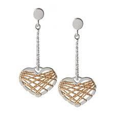 links of london jewellery las dream catcher heart earrings