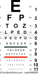 Eye Chart Letters Chart Test For Eyes
