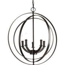 progress lighting equinox wide 5 light globe chandelier antique bronze oil rubbed