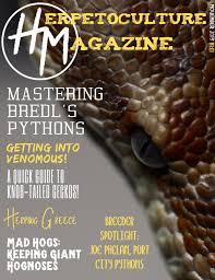 Designer Morphs Western Hognose Snakes Herpetoculture Magazine V1e1 By Herpetoculture Magazine Issuu