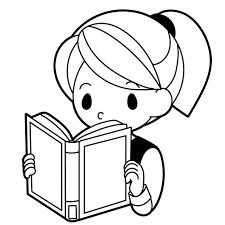 本を読む女の子のイラスト 無料イラスト素材素材ラボ