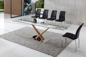 extending glass dining table and chairs. dining tables, awesome gray rectangle modern glass extendable table varnished ideas: extending and chairs