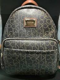 <b>Genuine</b> Calvin Klein CK Logo <b>Women's Backpack Bag</b> - Brown ...