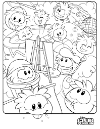 Small Picture Online for Kid Club Penguin Coloring Pages 61 In Line Drawings