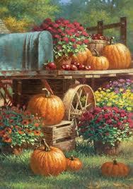 fall garden flags. Toland - Farm Pumpkin Decorative Harvest Fall Autumn Flower Floral Rustic USA-Produced Garden Flags