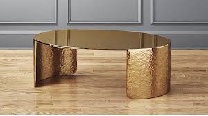 cuff hammered gold coffee table reviews cb2 throughout decorations 0