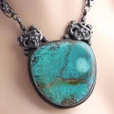 ethnic pendant necklace large