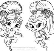 Coloring Pages Shimmer And Shine Lofty Tiki Best Coloring Ideas