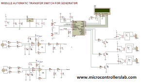 automatic transfer switch using pic microcontroller circuit diagram of automatic tranfer switch circuit diagram of automatic transfer switch for generator