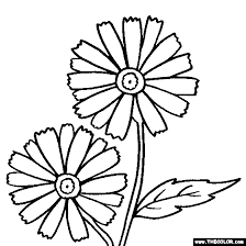 Small Picture Daisy Flower Coloring Page Flower Coloring Page