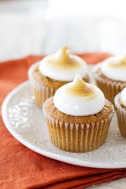 sweet potato cupcakes. Beautiful Potato Sweet Potato Cupcakes With Toasted Marshmallow Frosting From  Wwwtasteandtellblogcom For E