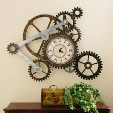 clock wall art installation