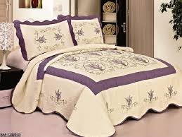 High Quality Beige / Purple fully quilted bedspread coverlet Bed ... & High Quality Beige / Purple fully quilted bedspread coverlet Bed Cover set  Queen King 104x92