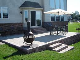 backyard raised patio ideas. Raised Brick Paver Patio. Backyard Patio Ideas