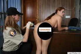 Caged tushy womens prison strip search