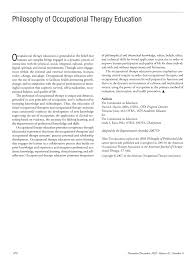 philosophy of occupational therapy education american journal of first page pdf preview