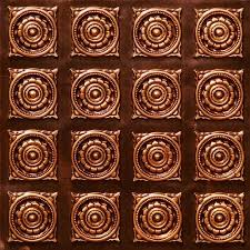 get ations very decorative plastic ceiling tiles 128 antique copper ul rated can be glue on
