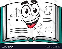 happy smiling cartoon textbook vector image