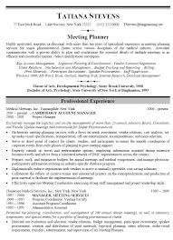 Event Planner Resume Sample After Event Planning Susan Delancey