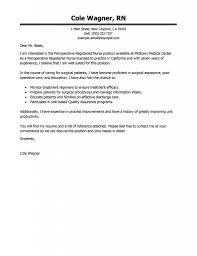 Cover Letter Registered Nurse New Graduate Adriangatton Com