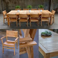 11 pc grade a teak coco dining set 1 lina dining table dimension 118lx43