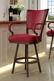 swivel bar chairs. Exellent Chairs Callee Laguna Swivel Stool With Arms And Red Vinyl  Throughout Bar Chairs T