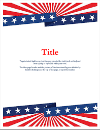 Flyer Header American Flag Flyer With Header And Footer