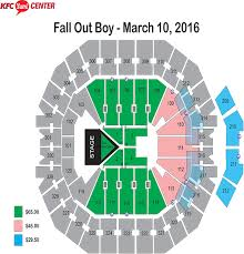 Yum Center Detailed Seating Chart Kfc Yum Center Floor Plan Kfc Yum Center Tickets And Kfc Yum