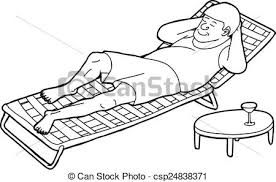 Outline of sleeping man on chair Outline drawing of man vectors