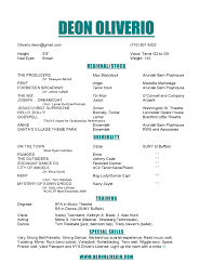 Enchanting Opera Singer Resume Template With Copy A Resume