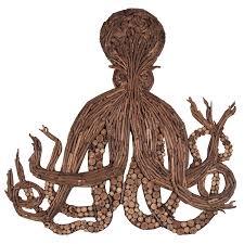 driftwood octopus wall décor