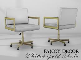 white and gold office chair. Contemporary Chair Fancy Decor WhiteGold Office Chair And White Gold 4