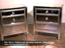 how to make mirrored furniture. Contemporary How Best Mirrored Nightstand Ideas On Mirror Furniture Pair Nightstands  Bedside Tables Chests Regarding Night Stands Remodel 3 Diy  Intended How To Make D