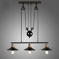 pulley pendant lighting. Vintage Pulley Pendant Loft Ceiling Light Hanging Lamp Artistic Lighting Fixture | EBay L
