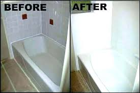 resurface cast iron tub refinished cast iron tub bathtub kit refinishing bathtubs home improvement refinish a