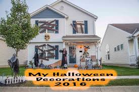 Halloween Decorations My Halloween Decorations 2016 Youtube