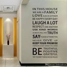 Englisch Sprüche Wandaufkleber Familie Hausregeln Wandaufkleber Aufkleber Removable Decor Home Kids Großes Geschenk Wallpapers