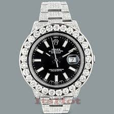 rolex oyster perpetual datejust mens diamond watch 25 40ct custom