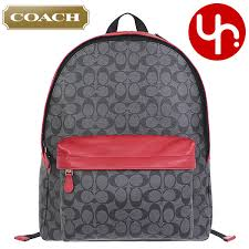 coach coach bag backpack f71973 charcoal true red coach campus signature pvc leather backpack products
