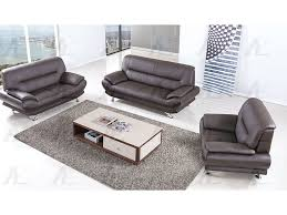 dark chocolate genuine leather sofa set