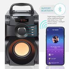 Satın Al Büyük Güç Bluetooth Hoparlör Kablosuz Stereo Subwoofer Ağır Bass  Hoparlörler Müzik Çalar Destek LCD Ekran FM Radyo TF, TL1,875.16